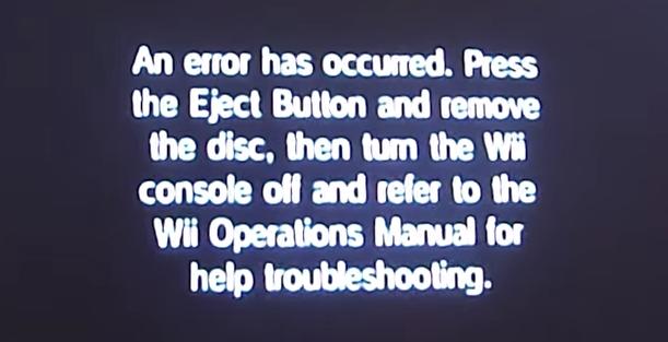 Wii Error Message